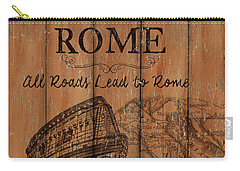 Carry-all Pouch featuring the painting Vintage Travel Rome by Debbie DeWitt