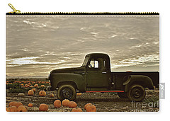 Vintage Truck Two In Pumpkin Graveyard Carry-all Pouch