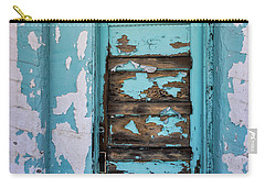 Carry-all Pouch featuring the photograph Vintage Turquoise Door  by Saija Lehtonen