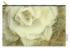 Vintage White Flower Art Carry-all Pouch