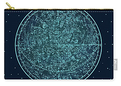 Vintage Zodiac Map - Teal Blue Carry-all Pouch