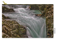 Carry-all Pouch featuring the photograph Vintgar Gorge Rapids #2 - Slovenia by Stuart Litoff