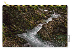 Carry-all Pouch featuring the photograph Vintgar Gorge Rapids - Slovenia by Stuart Litoff