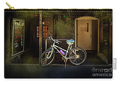 Carry-all Pouch featuring the photograph Vinyl Club Bicycle by Craig J Satterlee