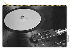 Vinyl Record Playing On A Turntable Overview Carry-all Pouch