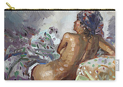 Nude In Violet Carry-all Pouch