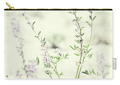 Violet And Green Bloom Carry-all Pouch