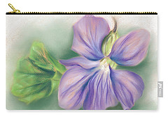 Violet And Leaf Carry-all Pouch