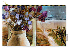 Violet Beach Flowers Carry-all Pouch