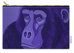 Violet Gorilla Carry-all Pouch