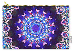 Carry-all Pouch featuring the digital art Violet Lace by Shawna Rowe