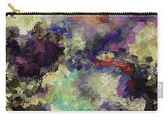 Carry-all Pouch featuring the painting Violet Landscape Painting by Ayse Deniz