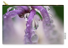 Carry-all Pouch featuring the photograph Violet Mist by Susan Capuano