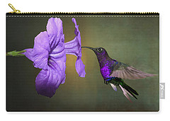 Violet Sabrewing Hummingbird Carry-all Pouch