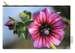 Violet Wild Flower Carry-all Pouch by Stephan Grixti