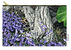 Violets At My Feet Carry-all Pouch by Sarah Loft
