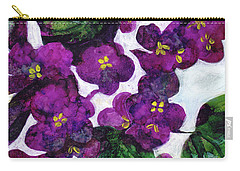 Carry-all Pouch featuring the painting Violets by Julie Maas