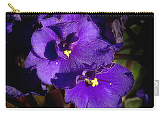 Carry-all Pouch featuring the photograph Violets by Phyllis Denton