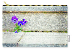 Carry-all Pouch featuring the photograph Violets    by Silvia Ganora