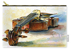 Violin 2 Carry-all Pouch by John D Benson