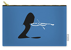 Violin In Blue Carry-all Pouch by David Bridburg