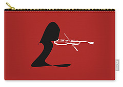Violin In Orange Red Carry-all Pouch by David Bridburg