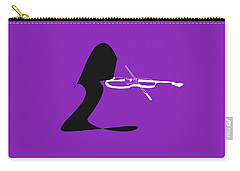 Violin In Purple Carry-all Pouch by David Bridburg