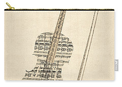 Violin Old Sheet Music Carry-all Pouch