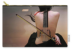 Violin Woman Carry-all Pouch