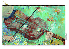 Violinist In The Garden Carry-all Pouch