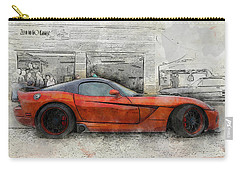 Carry-all Pouch featuring the photograph Viper Zero To 60 by Joel Witmeyer
