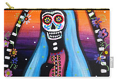 Carry-all Pouch featuring the painting Virgen Guadalupe Muertos by Pristine Cartera Turkus
