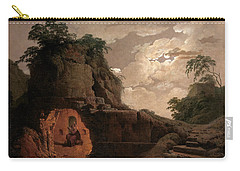 Virgil's Tomb By Moonlight With Silius Italicus Declaiming Carry-all Pouch by Joseph Wright of Derby