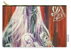Virgin Mary And Baby Jesus Carry-all Pouch
