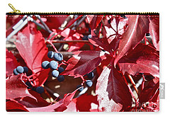 Carry-all Pouch featuring the photograph Virginia Creeper by Linda Bianic