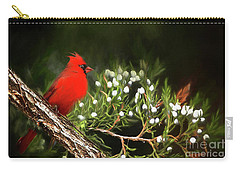 Carry-all Pouch featuring the photograph Virginia State Bird by Darren Fisher