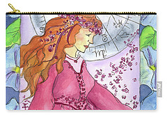 Carry-all Pouch featuring the painting Virgo by Cathie Richardson
