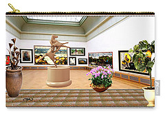 Virtual Exhibition - A Modern Horse Statue Carry-all Pouch by Pemaro
