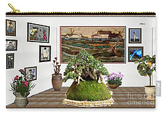 Virtual Exhibition -  Bonsai Palm 17 Carry-all Pouch by Pemaro