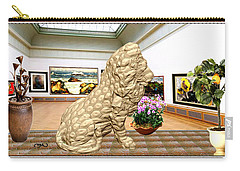 Virtual Exhibition - Statue Of A Lion Carry-all Pouch