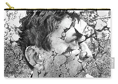 Carry-all Pouch featuring the digital art Visceral Pieces by Beto Machado