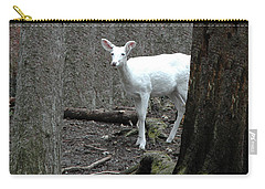 Carry-all Pouch featuring the photograph Vision Quest White Deer by LeeAnn McLaneGoetz McLaneGoetzStudioLLCcom