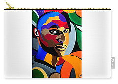 Visionaire Male Abstract Portrait Painting Chromatic Abstract Artwork Carry-all Pouch