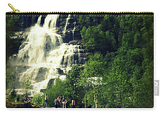 Visit To Tvindefossen Falls Carry-all Pouch