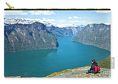 Visitor At Aurlandsfjord Carry-all Pouch