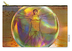 Carry-all Pouch featuring the digital art Vitruvian Vulcan by Robin Moline