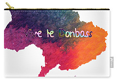 Carry-all Pouch featuring the digital art Vive Le Donbass by Elaine Ossipov