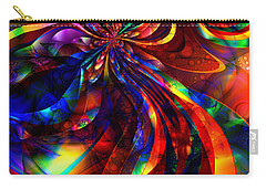 Carry-all Pouch featuring the digital art Vivid by Kiki Art
