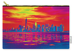 Vivid Skyline Of New York City, United States Carry-all Pouch