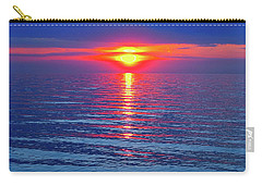 Vivid Sunset - Emerson Quote - Square Format Carry-all Pouch by Ginny Gaura